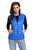 Sexy Royal Blue Quilted Cotton Down Vest