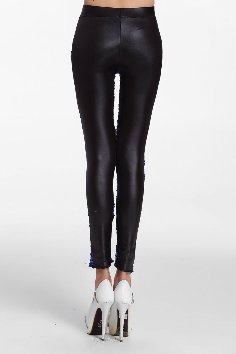 259f7d71f6a Sexy Sapphire Sequin Front PU Leggings – SEXY AFFORDABLE CLOTHING