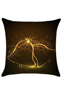 Sexy Sparkling Christmas Bells Pattern Cushion Cover