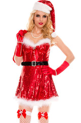 Sexy Sparkly Miss Santa Costume