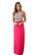 Sexy Stylish Tribal Print Sleeveless Rosy Maxi Dress