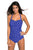 Sexy Vintage Inspired 1950s Style Blue Polka Dot Teddy Swimsuit
