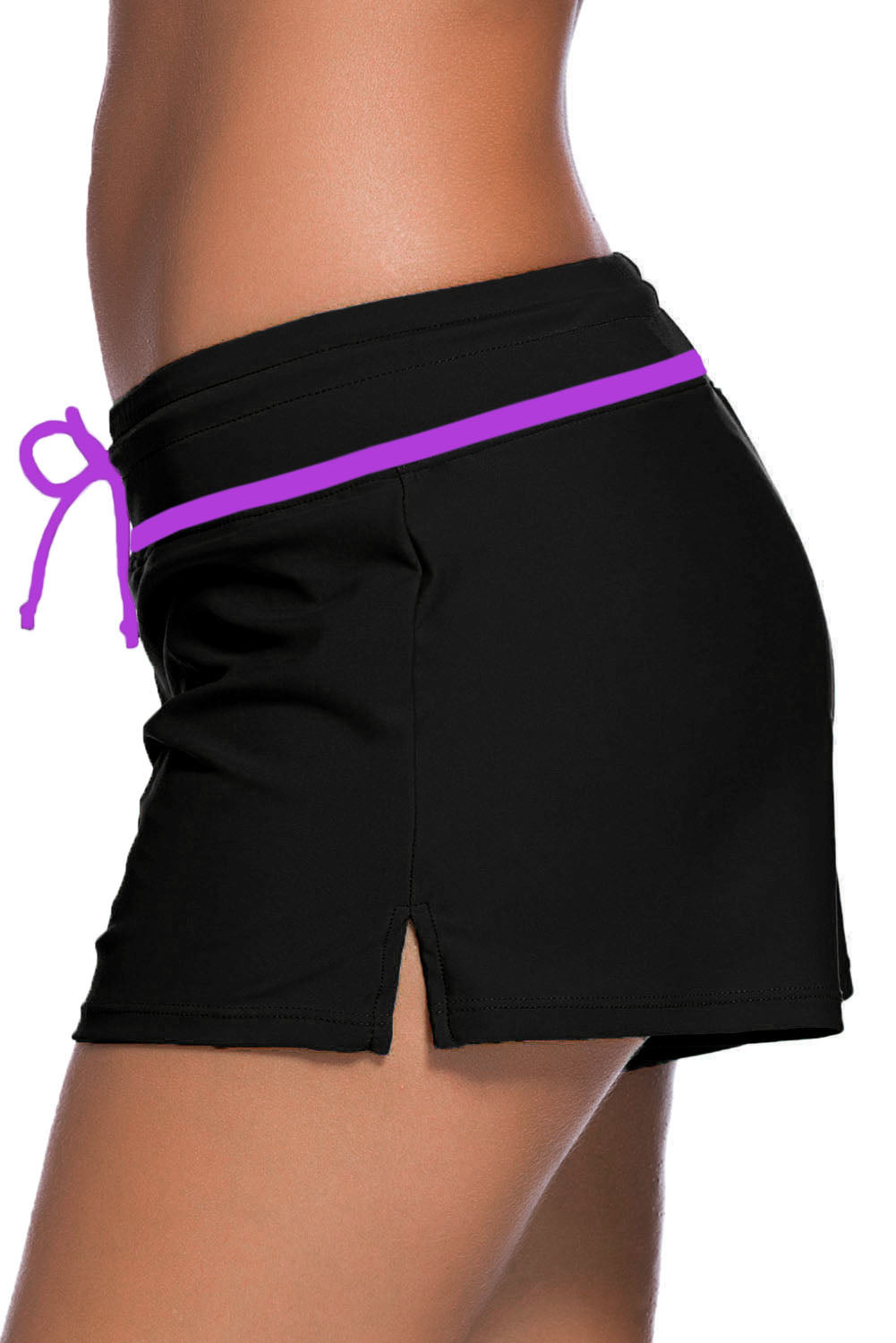 99d8fb6f0a Sexy Violet Strap Trim Black Women Swim Boardshort – SEXY AFFORDABLE ...