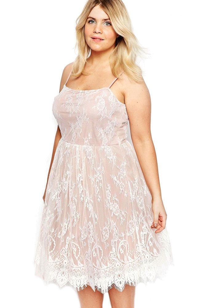 fbcd6d8d77b Sexy White Big Girl Sweet Lace Skater Dress – SEXY AFFORDABLE CLOTHING