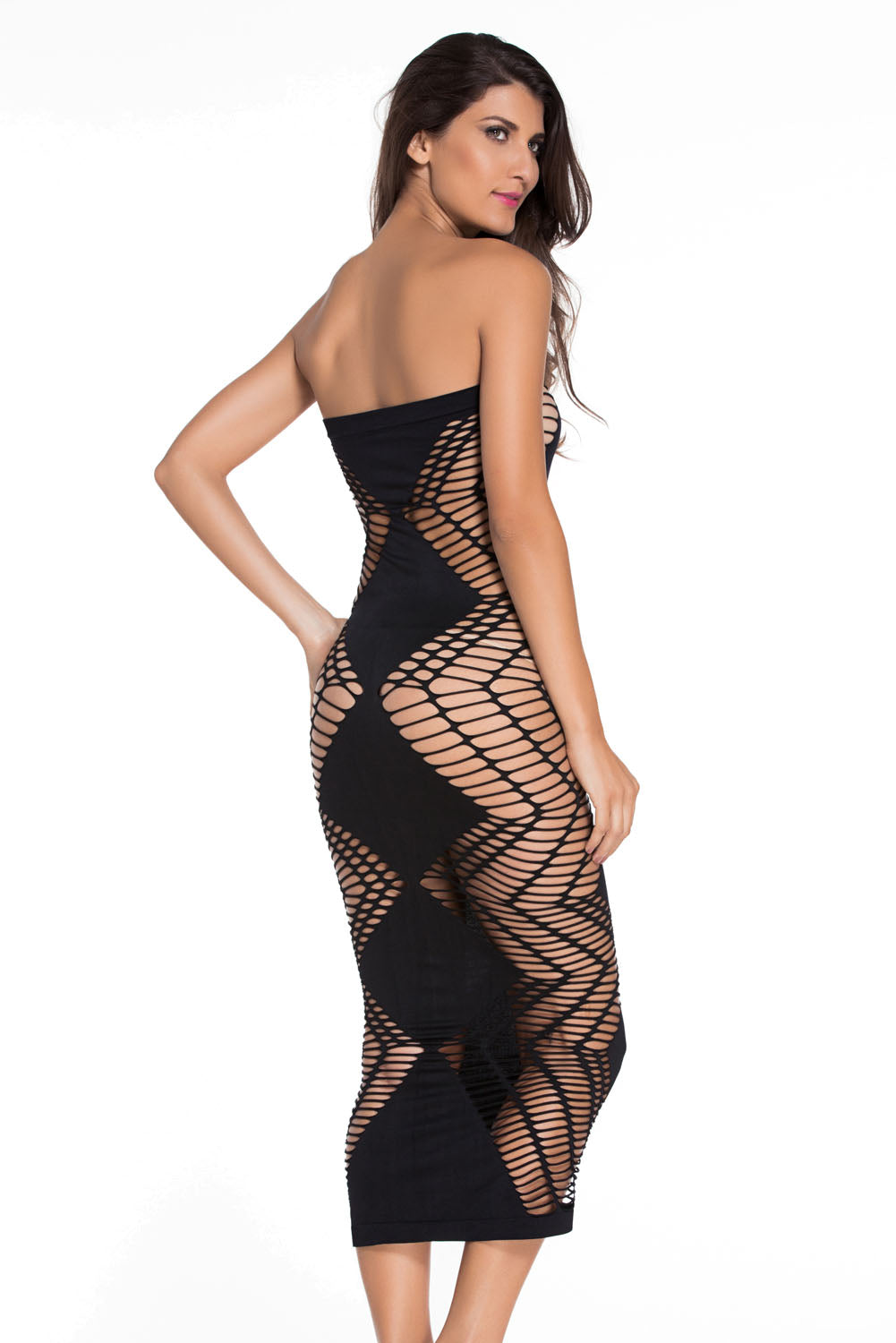 8898561fec2 Sexy Zig Zag Shred Seamless Long Dress – SEXY AFFORDABLE CLOTHING
