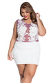 Sizzling Floral Lace Bodice Mini Club Dress