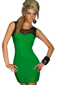 Trendy Sweetheart Bodycon Dress Green