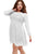 White Boohoo Plus Size Lace Top Skater Dress