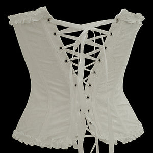 White Overbust Pattern Corset
