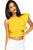 Yellow One-shoulder Ruffle Crop Top