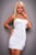 Sexy Mini Dress Multicol White  SA-BLL2061-3 Sexy Clubwear and Club Dresses by Sexy Affordable Clothing