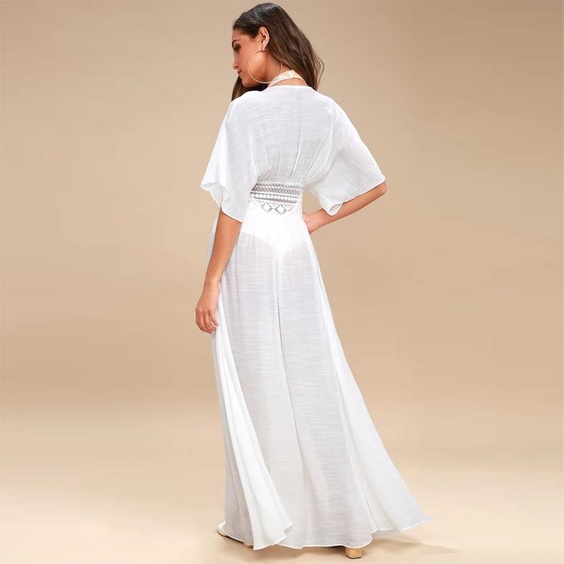 326943cc568 Carried Away Off-White Embroidered Maxi Cardigan  Embroidered SA-BLL38574  Sexy Swimwear and