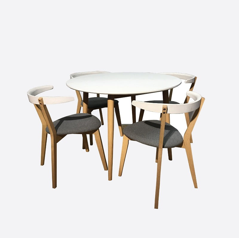 NAPLES Dining Set (1T + 4C)