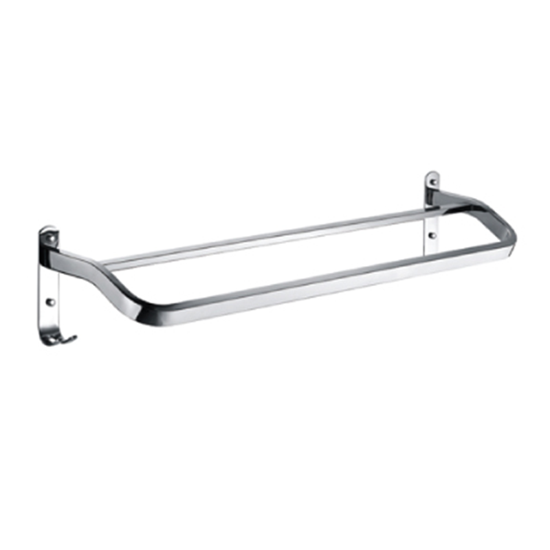 DOUBLE Towel Bar with Hook