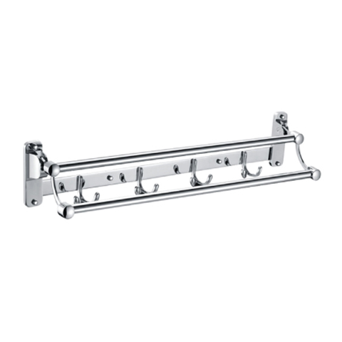 FOLDABLE 2 Rod Towel Bar