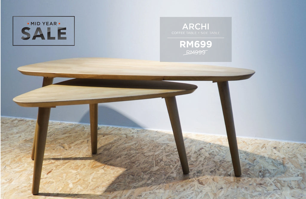 ARCHI Coffee Table + Side Table