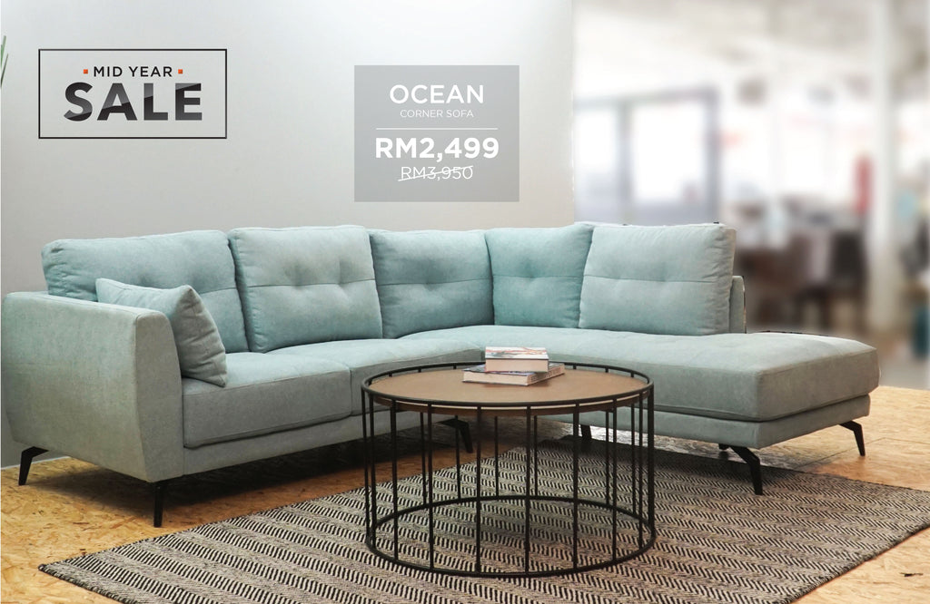 OCEAN Corner Sofa, ENZO Coffee Table