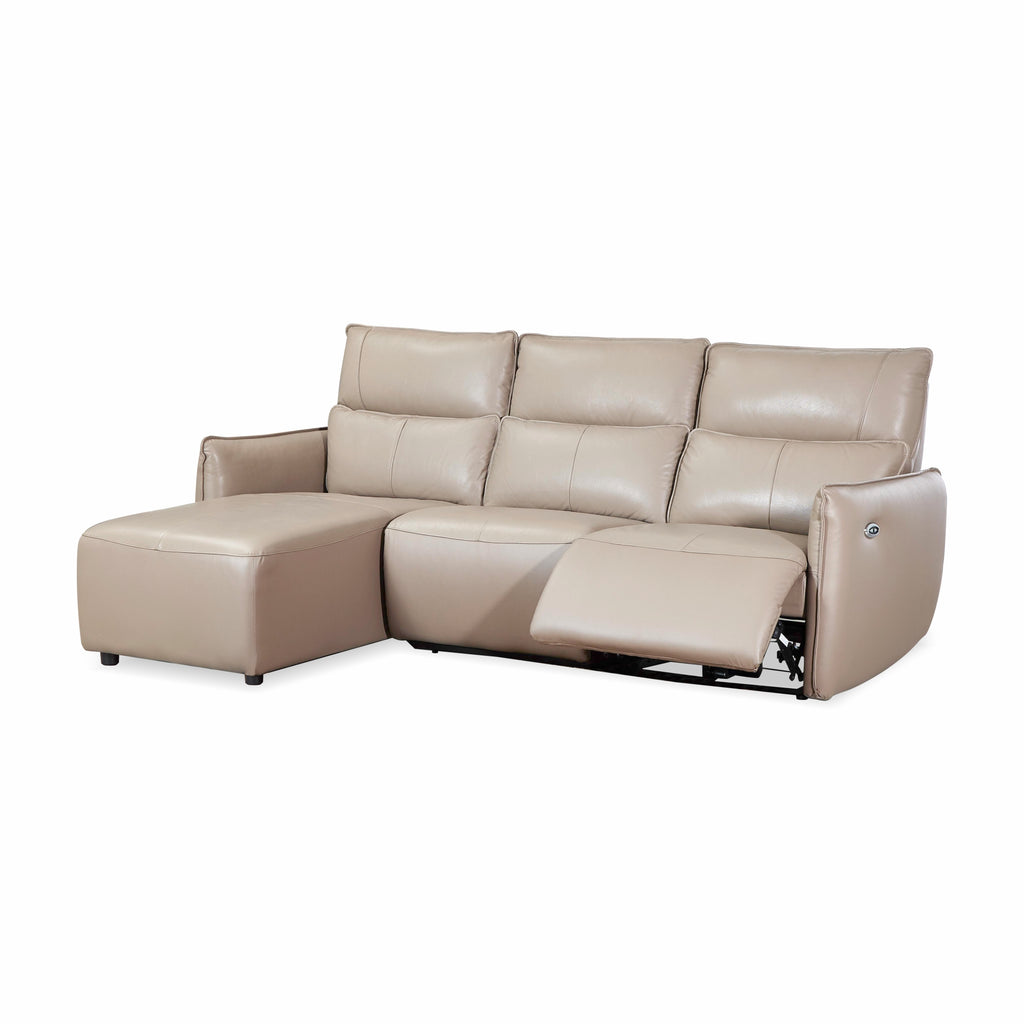 BRUCE Genuine Leather L-Shape Sofa