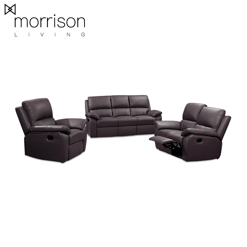 CUERO Recliner Sofa Set (Full Leather)