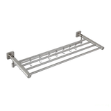 FOLDERABLE Double Towel Rack With Hook