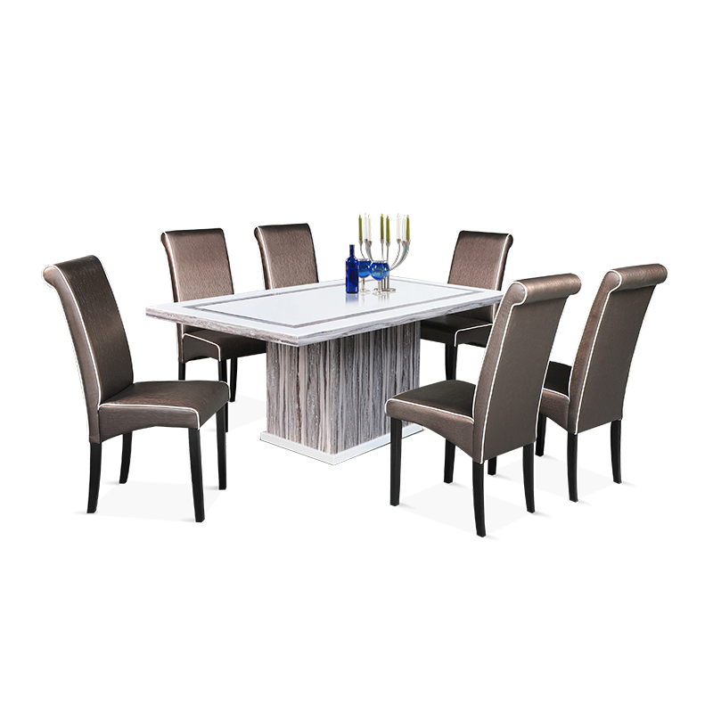 MARBLE Dining Set (1T + 6C)