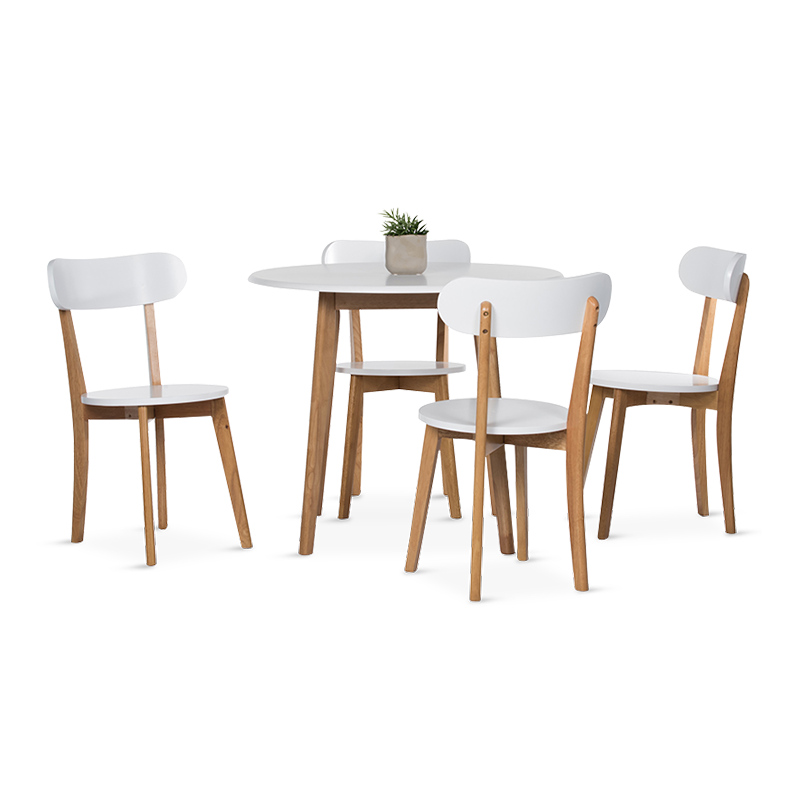 MADISON Dining Set (1T + 4C)