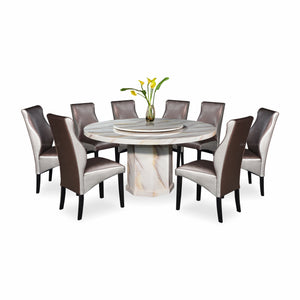 MARMO Marble Dining Set (1T + 8C)