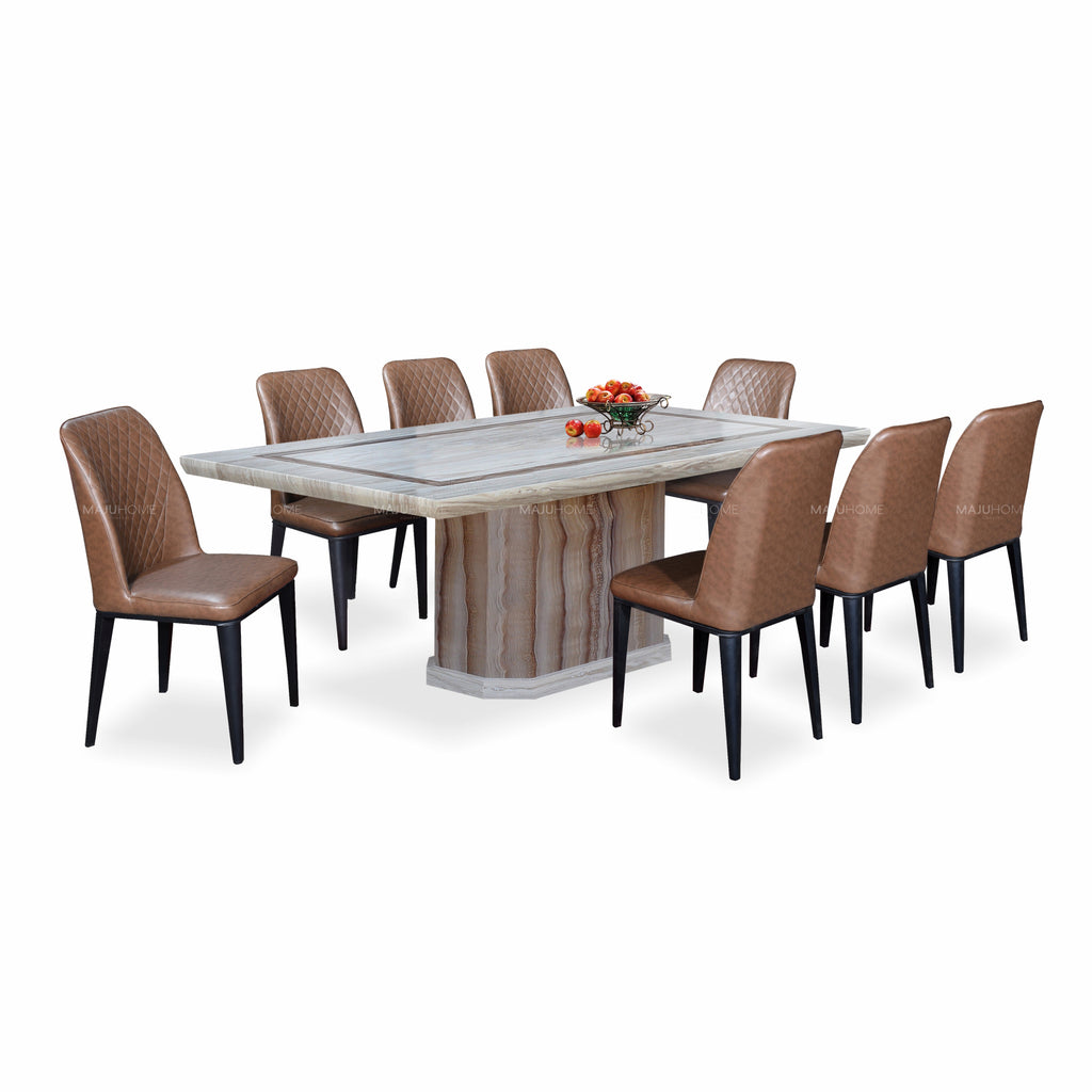 MODERNA Dining Set (1T + 8C)