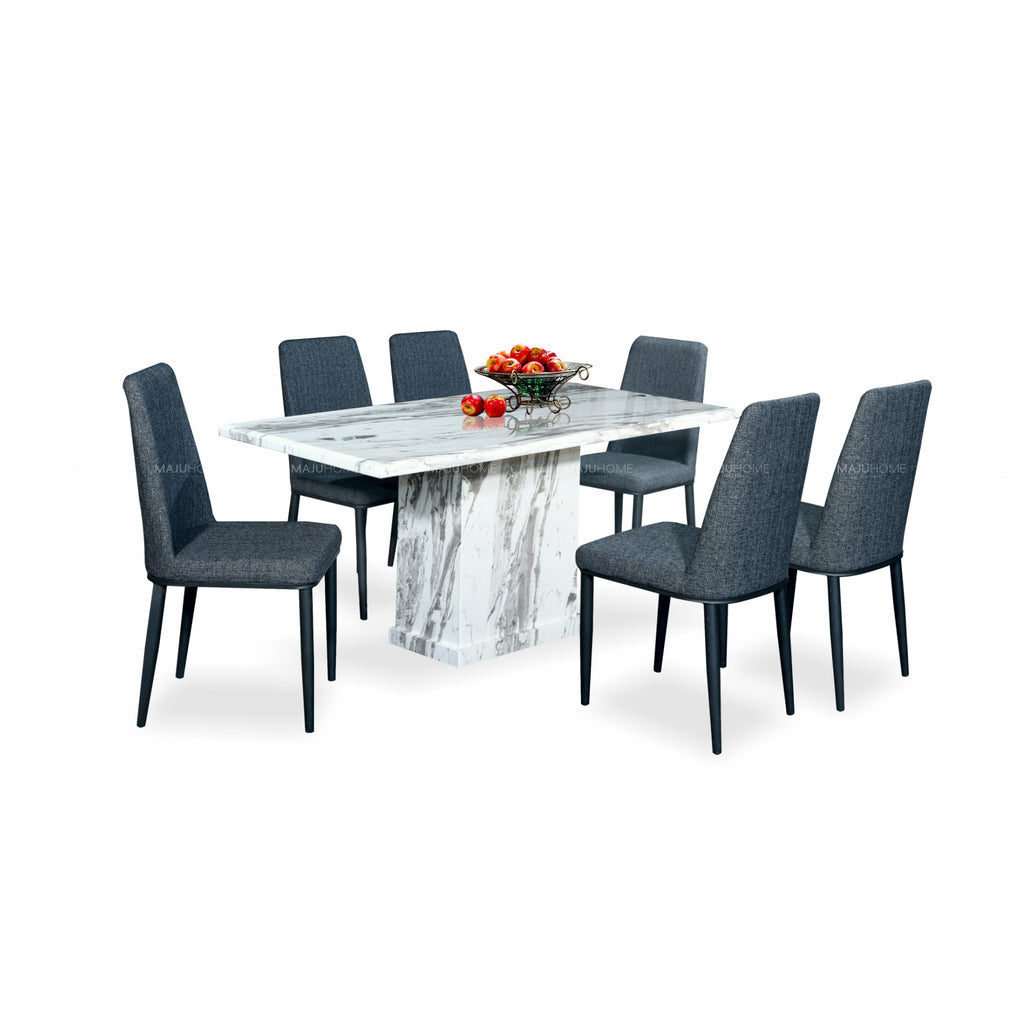 ORDINE Marble Dining Set (1T+6C)