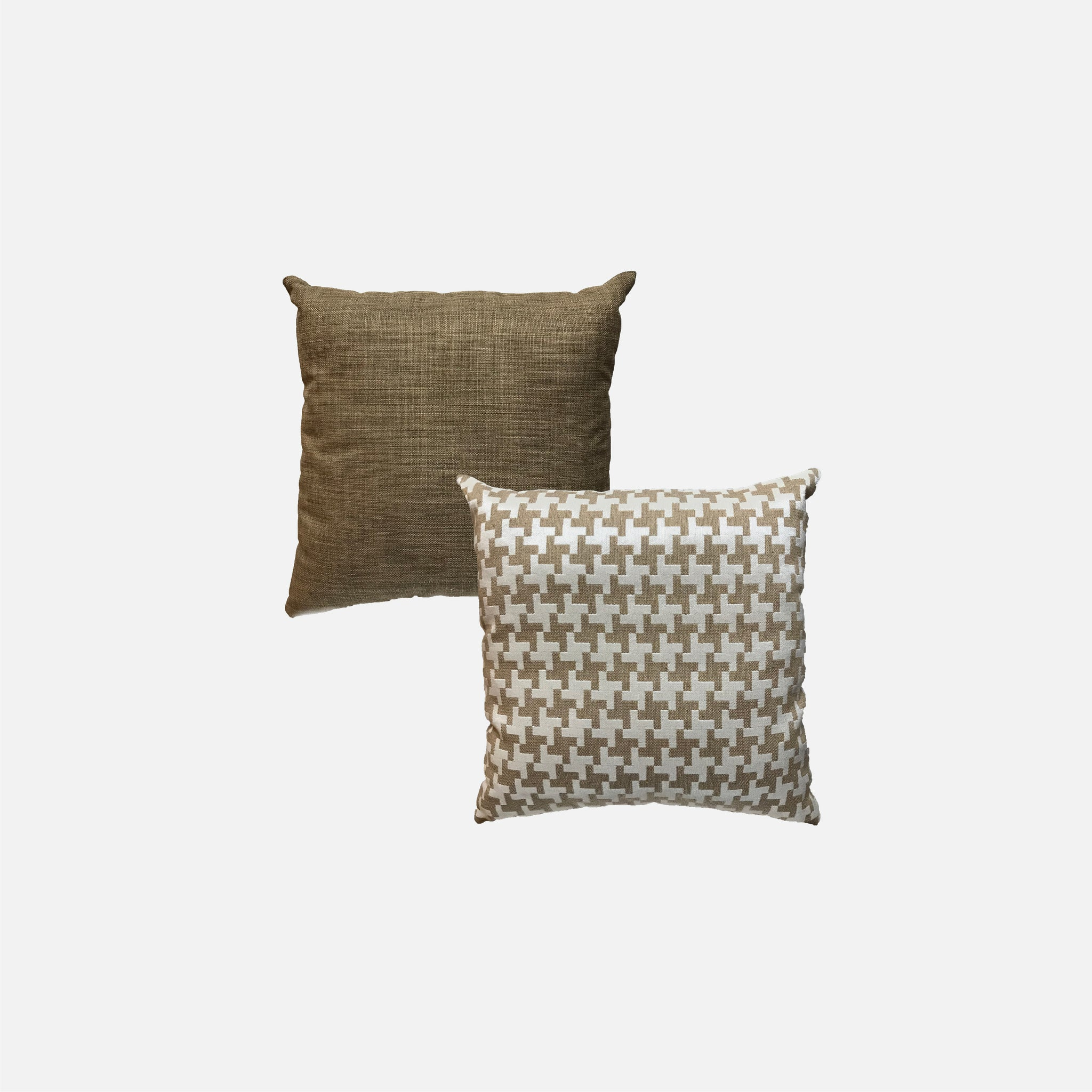 Designer Pillow (Square pillow) Gingham Brown