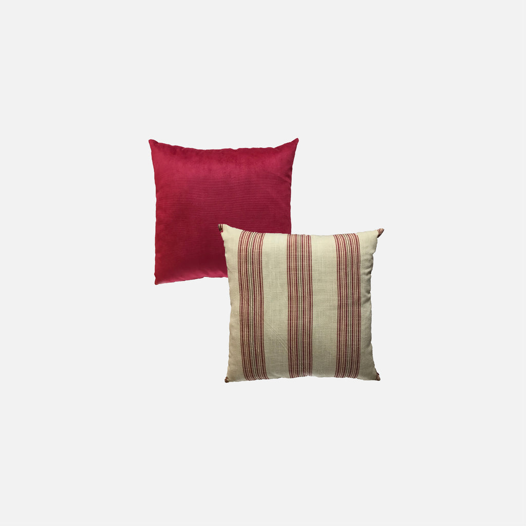 Designer Pillow (Square pillow) Stripes Red
