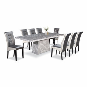 SIENNA Marble Dining Set (1T+8C)