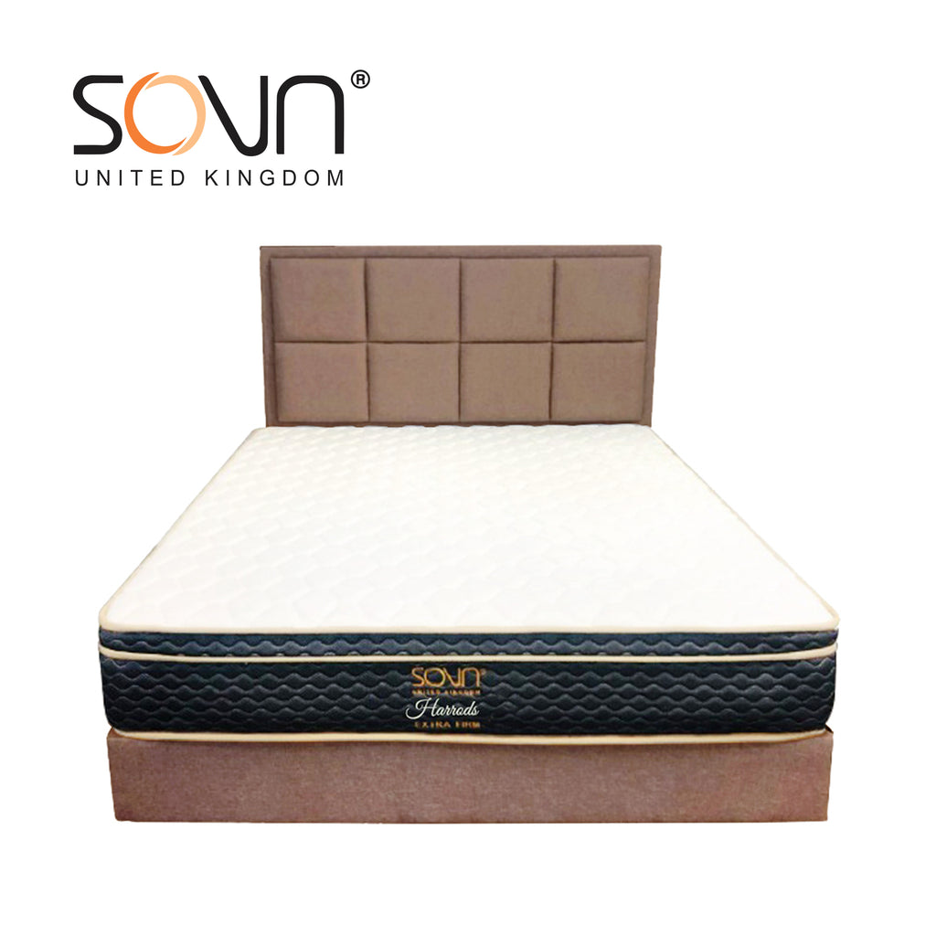 SOVN HARRODS Bed Set (Matt+HB+DV) - Brown