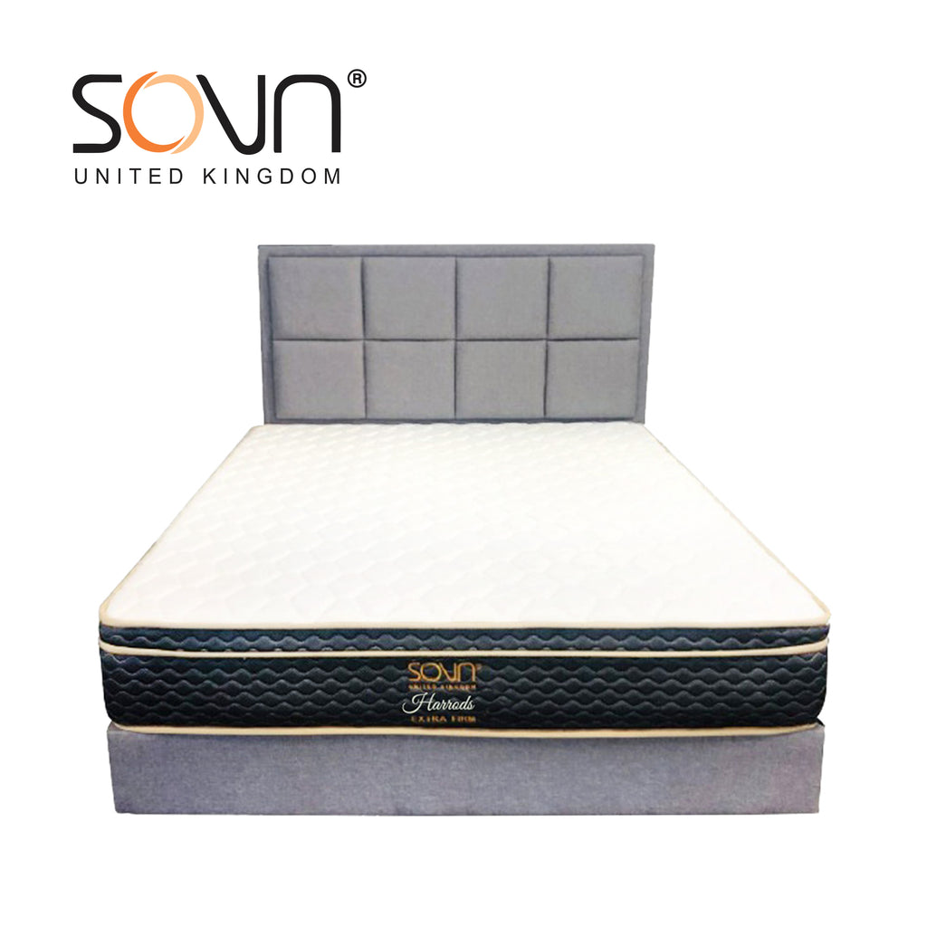 SOVN HARRODS Bed Set (Matt+HB+DV) - Grey
