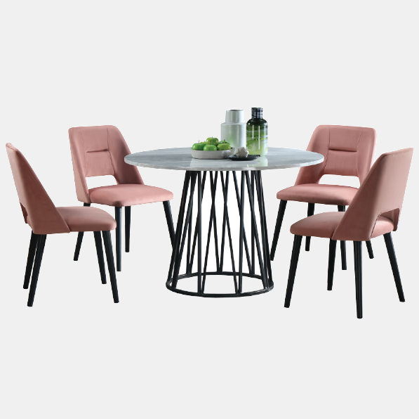 ALYSON + MILA Dining Set ( 1T + 4C )