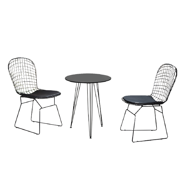 MIKAH Lounge Table & ESME Cafe Chair