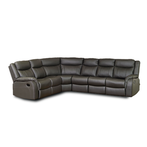 VALDES Genuine Leather & Corner Recliner Sofa