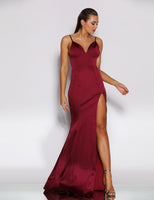 Emmy satin fitted prom dress JX2055, bridesmaid dress