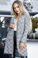 Grace open front knitted cardigan