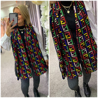 F print lightweight scarf - 4 colour ways