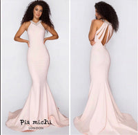 Pia Michi 1815 blush pink formal prom dress, bridesmaid dress