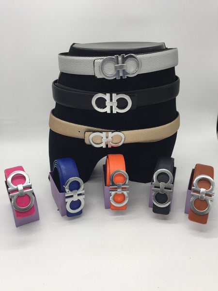 Double A silver  buckle belt - various colours one size