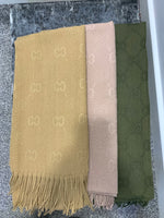 CC embossed giant scarves 3 colours sand , mink & khaki