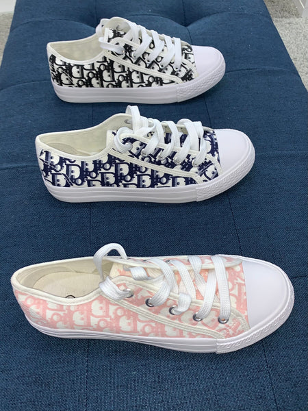 Celina print canvas trainers - 3 colours, pink, navy, black