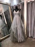 Angelina silver sparkle ballgown  prom dress, bridesmaid dress
