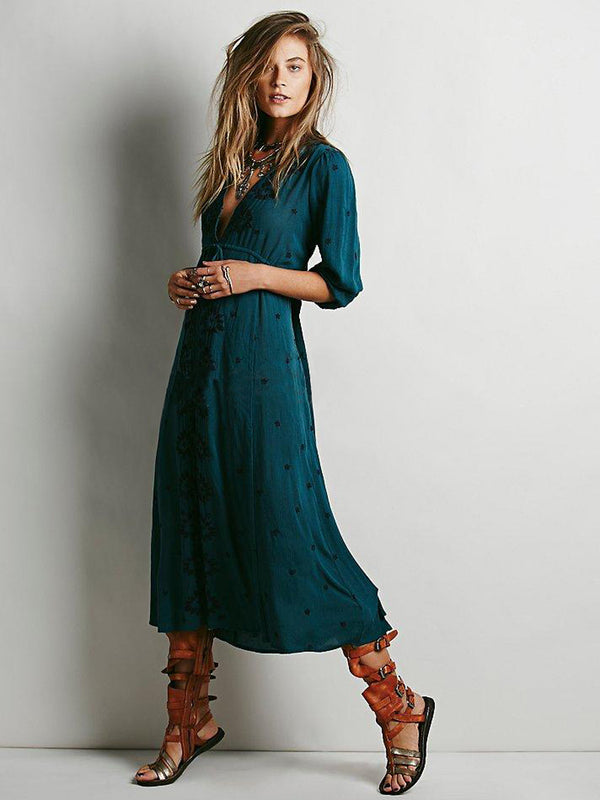 Long Hippie Boho Dress