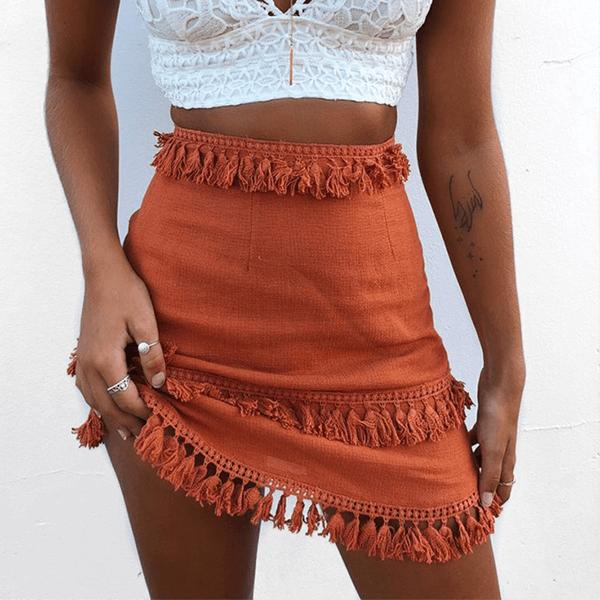 Summer Mini Tassel Skirt - mookyboutique
