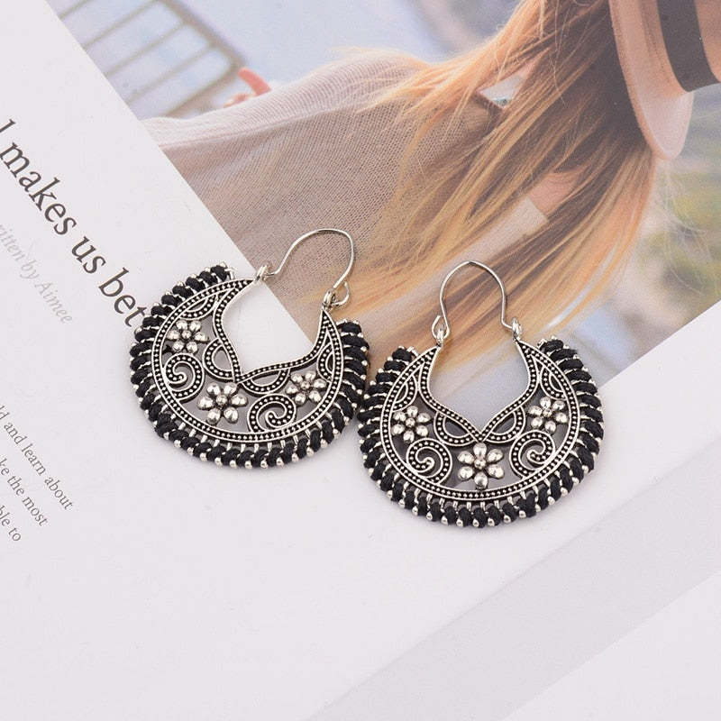 Ethnic Vintage Geometric Alloy Earrings - mookyboutique