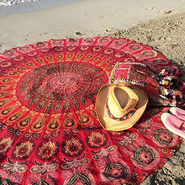 Bohemian Print Round Beach Towel - mookyboutique