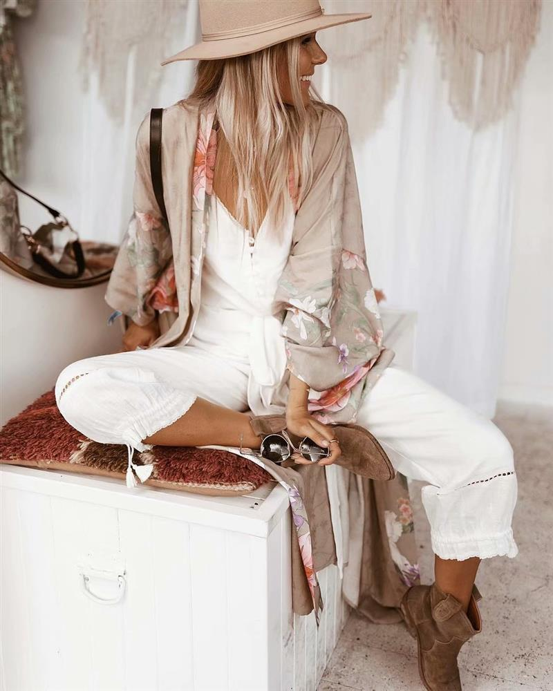 Boho Print Long Cardigan - mookyboutique